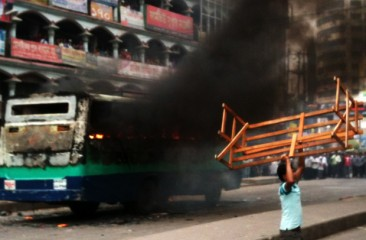 Four buses torched, 15 vehicles vandalized in Bangladesh's capital