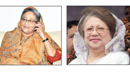 Hasina, Khaleda talk over phone for 37 minutes
