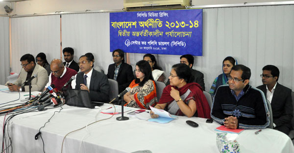 CPD sees Bangladesh's economy to grow by 5.8% in FY 14