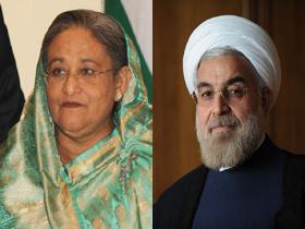 Iranian President greets Prime Minister Sheikh Hasina