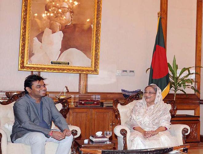 Sheikh Hasina praises AR Rahman's talents
