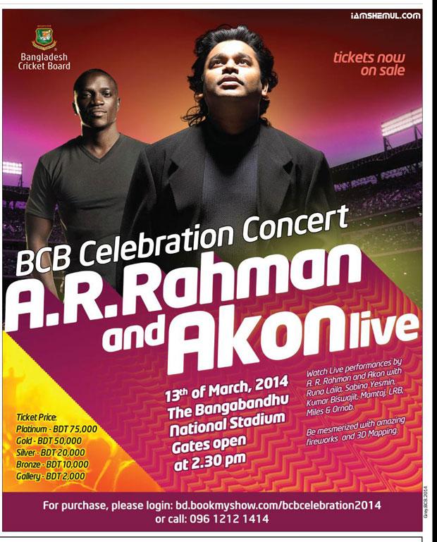 AR Rahman, Akon to perform at BCB Celebration Concert Thursday