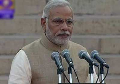 Modi takes oath as Indian PM