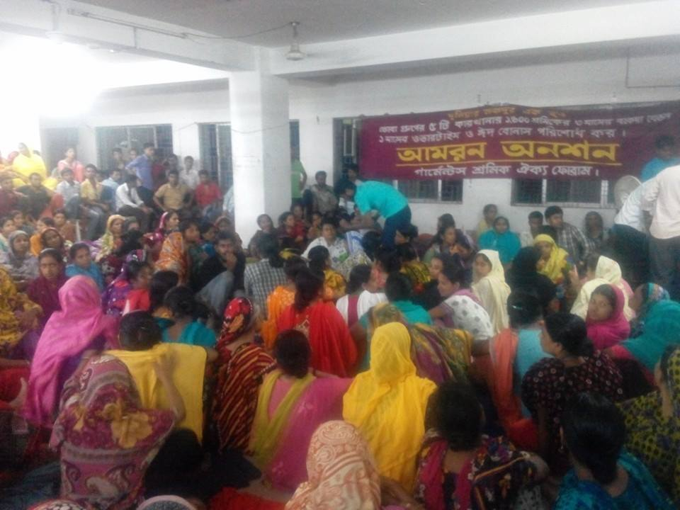 Hunger strike: Five apparel workers hospitalized in Bangladesh