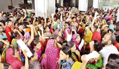 Tuba Group workers stage demo in Bangladesh capital