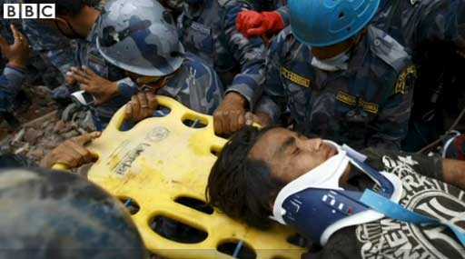 Teenage boy rescued after five days from Nepal quake rubble