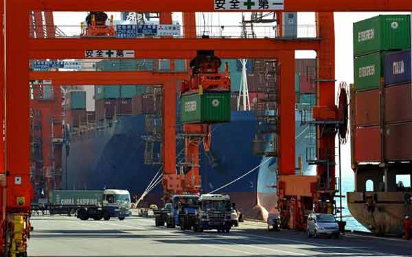 Exports help Japan to first trade surplus