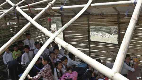 Nepal Schools re-open after quake