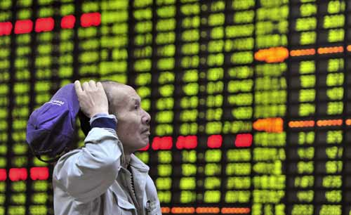 Asian shares down on global economic worries