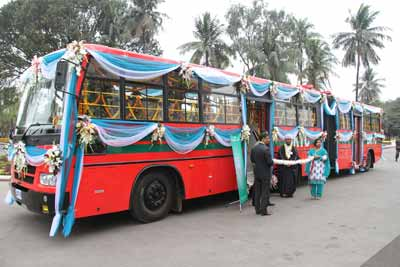 Trial run of Kolkata-Dhaka-Agartala bus begins
