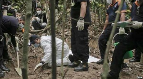 Migrant burried in Malaysia
