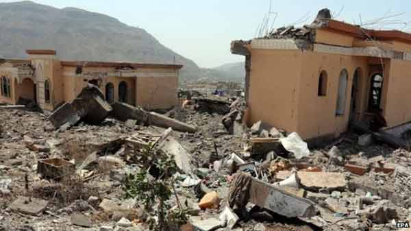 Saudi coalition renews Yemen strikes