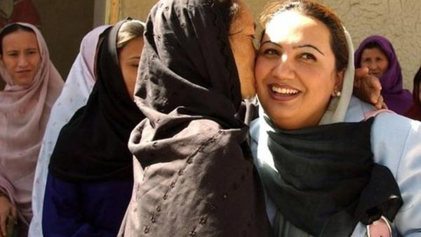 Afghan women talk to the Taliban