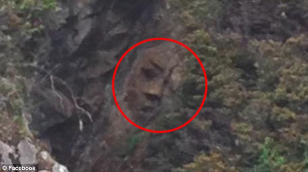 Man discovers mysterious, 'Large' face on Canada cliffside
