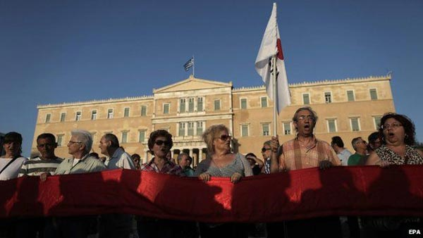 Greek no vote 'would mean euro exit'
