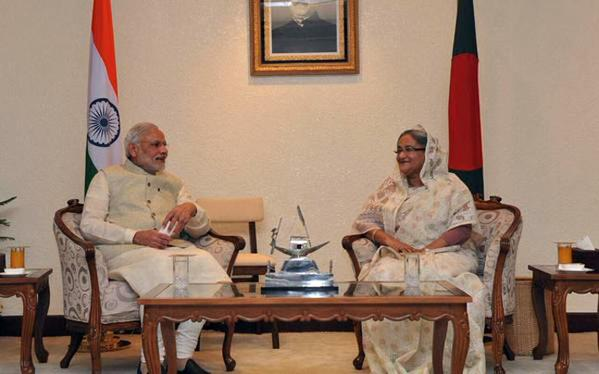 Hasina, Modi exchange LBA treaty documents