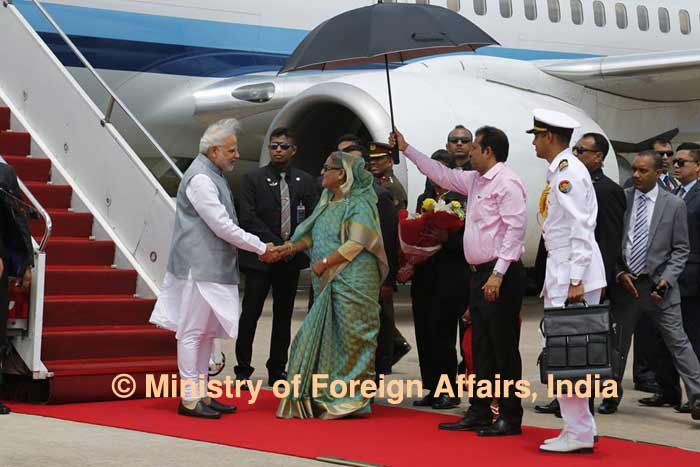 Modi thanks Hasina for cordial reception