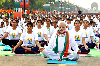 Yoga is for a tension-free world: Modi