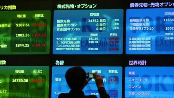 Japan shares up despite gloomy survey