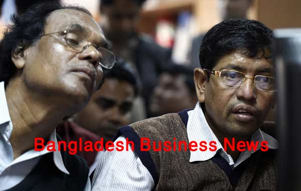Bangladesh's stocks down at midday on Thursday