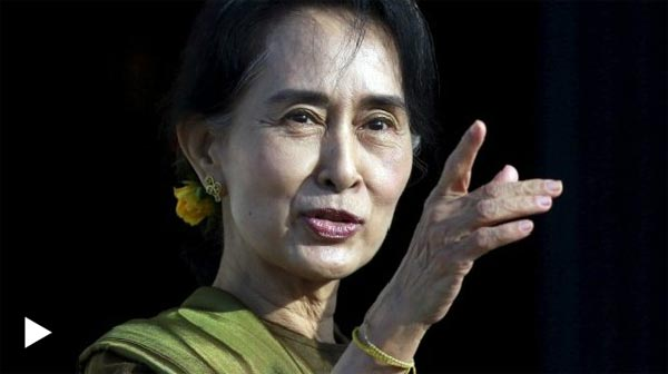 Suu Kyi arrives in China for first visit