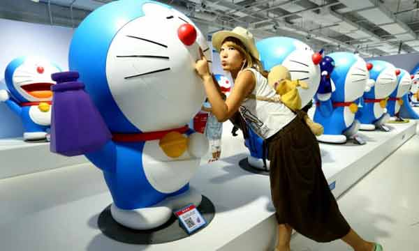 Japanese robot cat Doraemon helps ease diplomatic tensions with China