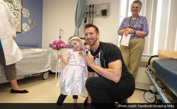4-yr-old leukemia patient 'marries' her favourite nurse