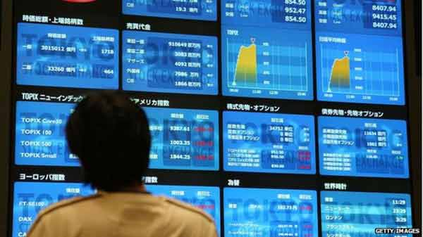 Asian shares mixed on China growth