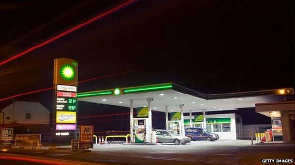 BP profits fall on low oil price