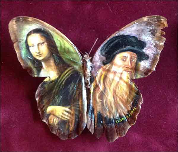 Artist recreates classic paintings on real butterflies