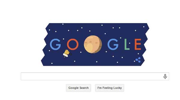 Google Doodle celebrates Pluto Flyby by NASA's new horizons