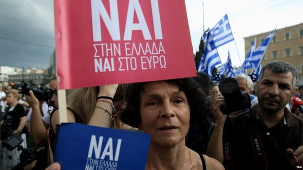 World awaits Greek debt vote