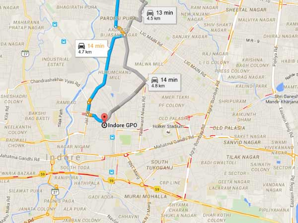 Google maps real-time traffic information comes to Indian cities