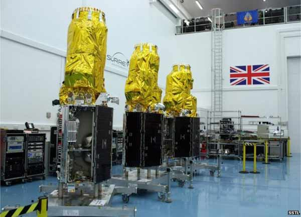 Five UK satellites go into orbit on Indian rocket