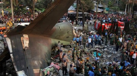 Indonesia military transport plane crash