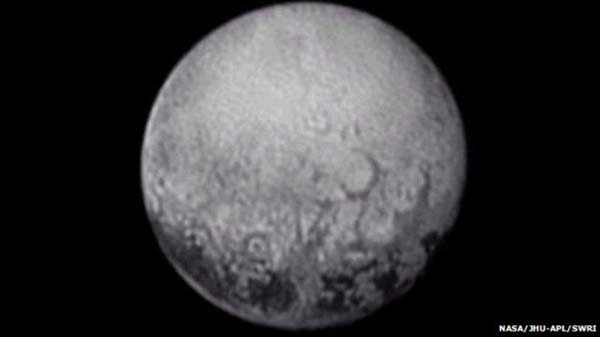 Last view of Pluto's spots