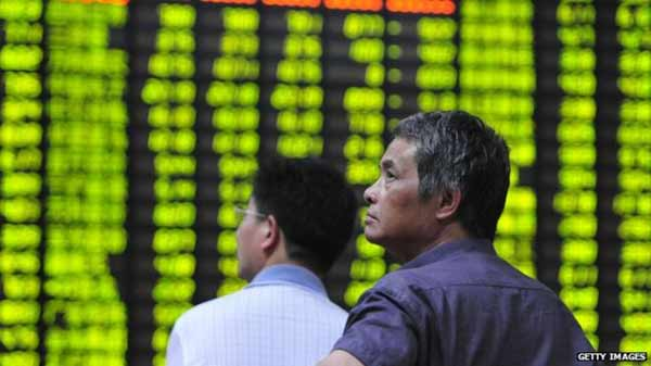 Chinese shares post steep losses
