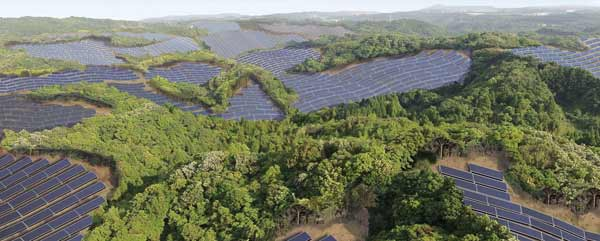 Abandoned Japanese golf courses become solar power plants