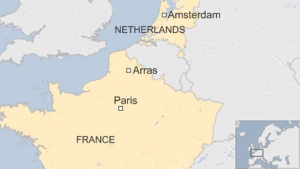 Americans subdue French train gunman