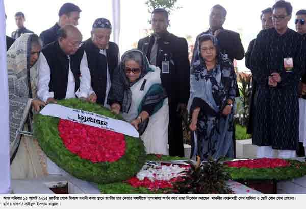 Nation paying homage to Bangabandhu