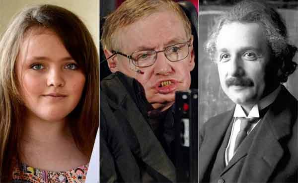 This 12-yr-old UK girl's IQ is higher than Hawking and Einstein!