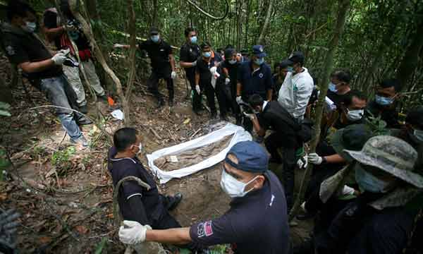 24 skeletons found in Malaysian mass grave