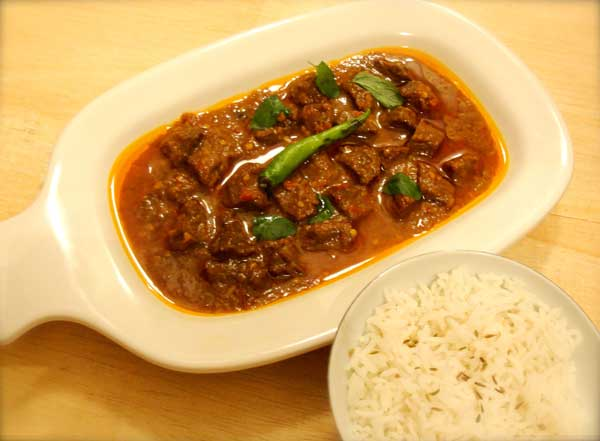 A sour and spicy beef recipe