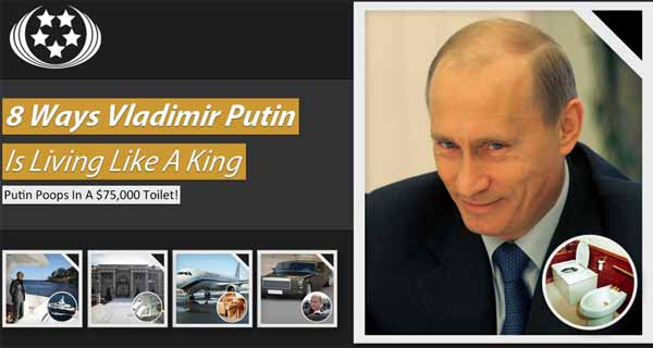 8 ways Vladimir Putin is living like a king