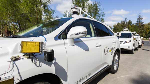 Google self-driving car hits a bus