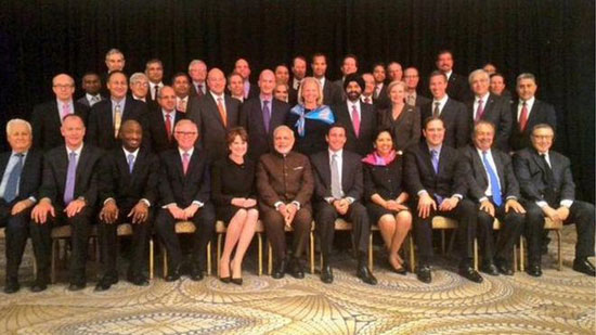 India PM Modi meets Fortune 500 CEOs on US trip