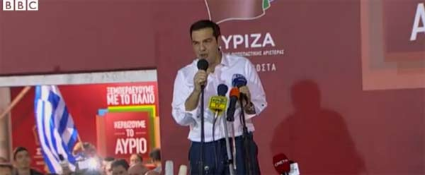 Greece's Tsipras hails election victory