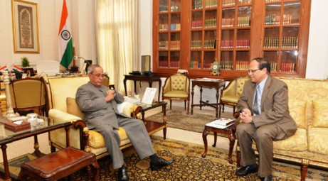 BB governor calls on Indian president