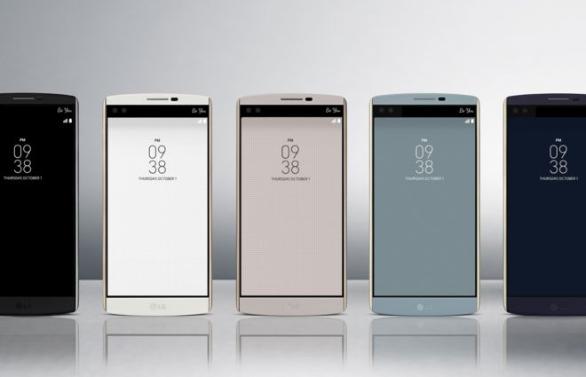 LG V10 smartphone has two selfie cameras