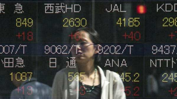 Japan shares choppy on machinery orders